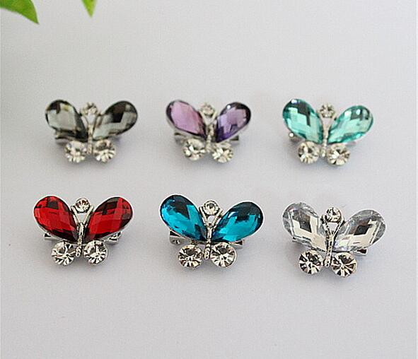 New arrival multicolor crystal butterfly brooch brooches pins for unisex children small insect butterfly rhinestone brooches