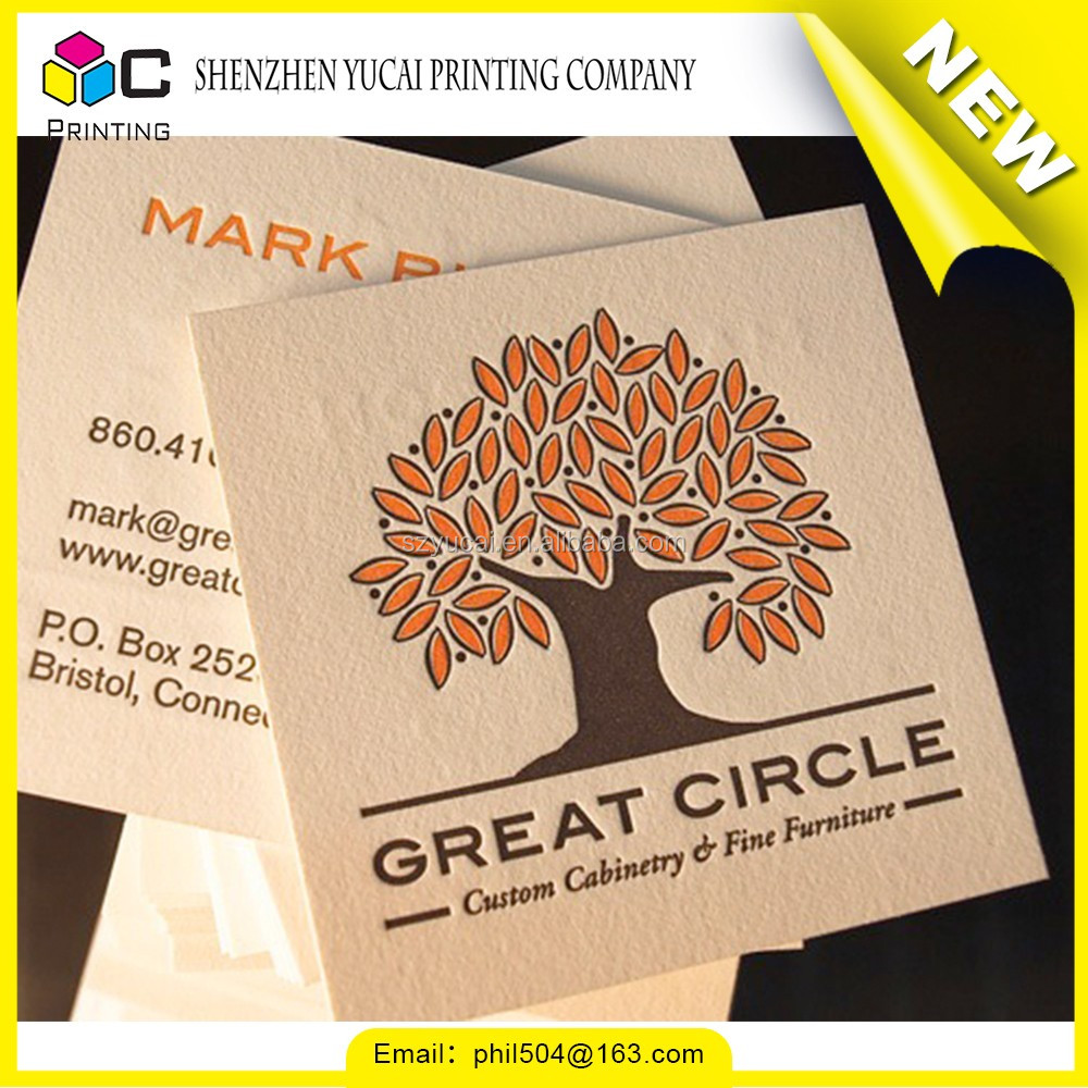 odm competitive price raised printing business cards custom ...