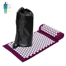 High quality bathtub acupuncture back massage mat and pillow set