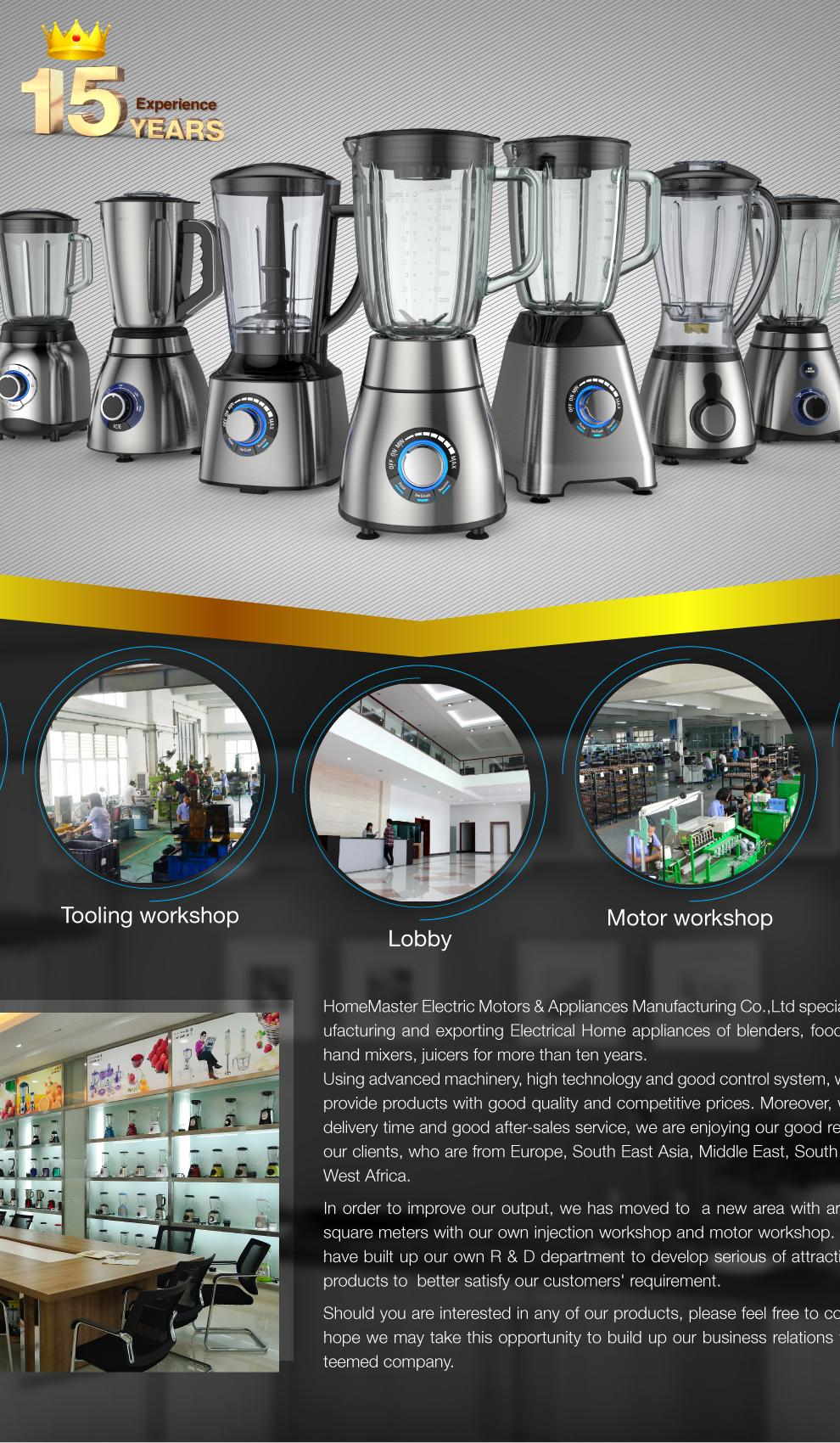 HomeMaster Electric Motors & Appliances Manufacturing Co., Ltd ...