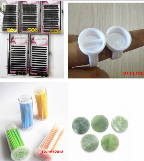 Top Eyelash Extensions Jade Stone Stand Glue Pallet Eyelash Eye ...