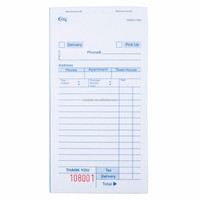Bulk Stocked USA White Carbonless Order Delivery Form (XJJD42-1)
