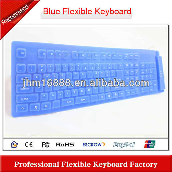 full size silicone portable rubber keyboard