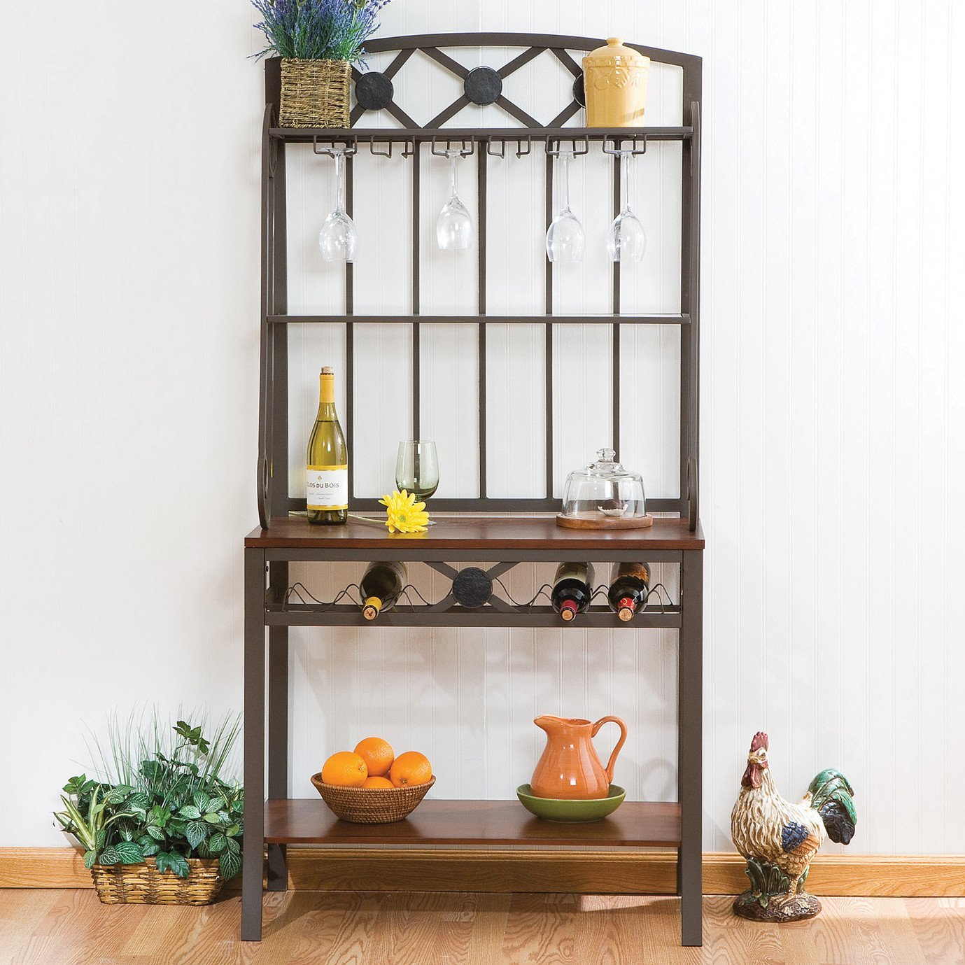 Get Quotations Wildon Home Nelson Decorative Ii Baker S Rack And Wine Storage Kitchen Bar Furniture Display