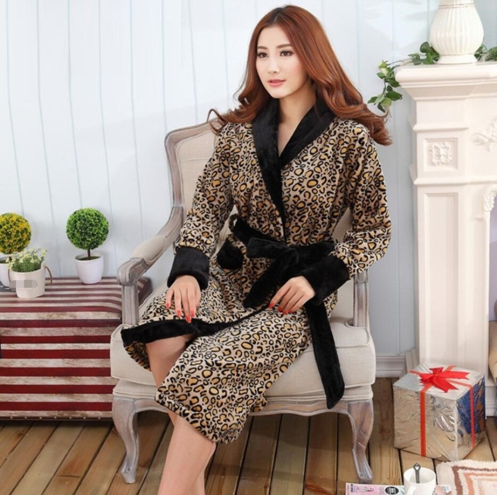 65fb8c94ff Get Quotations · GL G Couple Flannel Bathrobes - Men And Women Autumn And  Winter Super Thick Pajamas Home Clothing