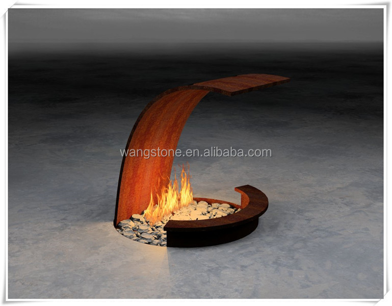 Handmade Wrought Small Corten Steel Fire Pit Sculpture - Handmade Wrought Small Corten Steel Fire Pit Sculpture, View Small