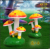 Resin Crafts Landscape Large Outdoor Sculpture Plants Mushrooms
