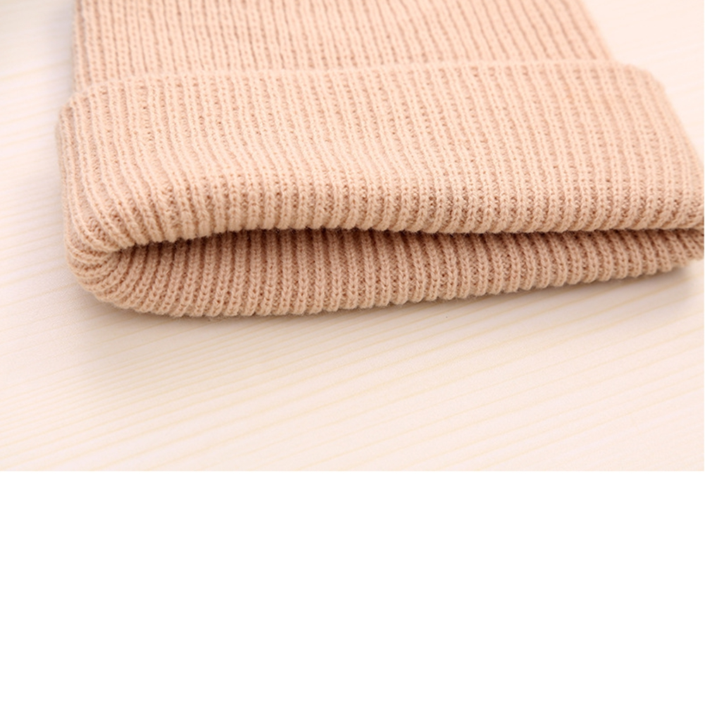 Design your own winter hat / plain tan beanie with custom tags