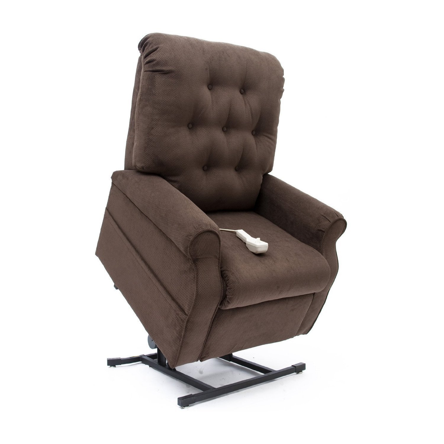 Easy Comfort 3-Position Reclining Power Electric Lift Chair Recliner with Inside Home Delivery and Setup - Chocolate Brown Color Fabric