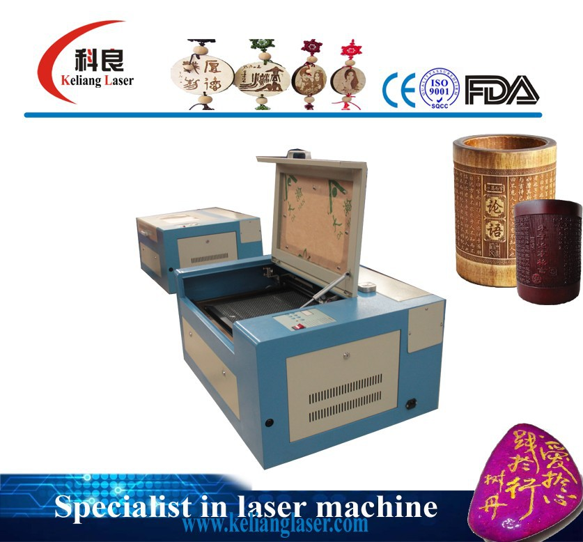 40w laser tube, Lifting working table mini desktop laser machine for christmas ornament KL-340