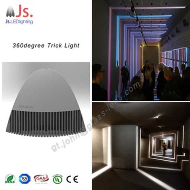 360deg RGB led light wall with DMX controller from china