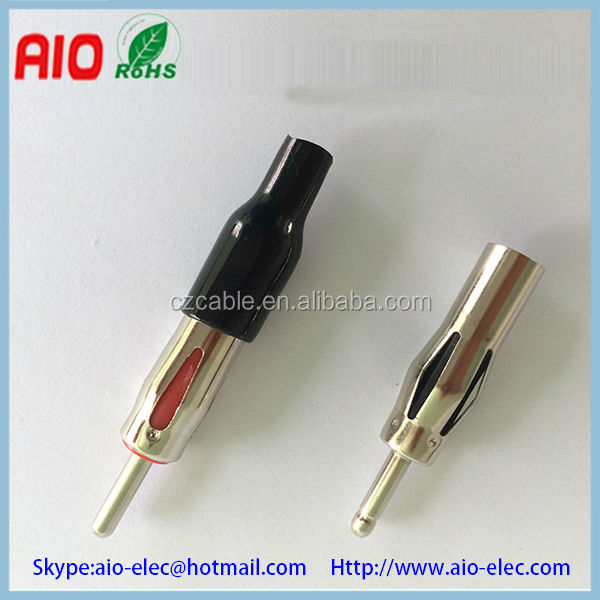 Iso Aftermarket Din Factory Male Plug Antenna Female Jack Type Connector For Car Stereo Aerial