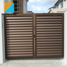 Decorative motorized louver aluminum livestock gates