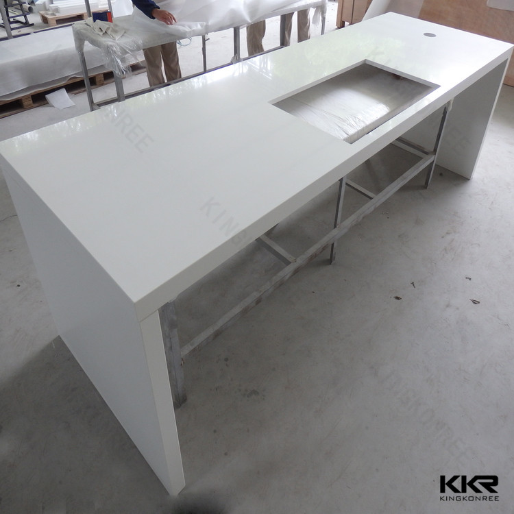 quartz stone kitchen countertops / prefabricated bar countertops