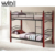 Wooden Double Bunk Bed for Adult Hostel Long Lasting Twin Over Bed