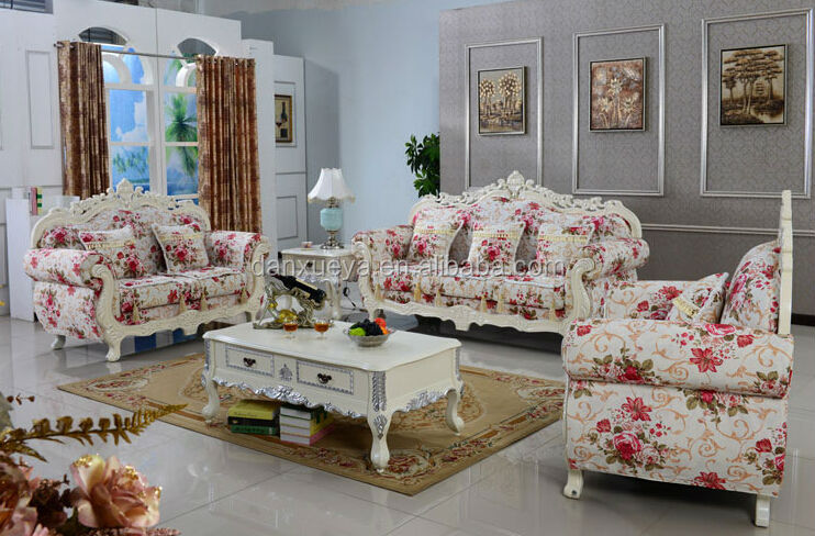 Dxy Elegant Design Cloth Sofa Fashionable Flower Patterns For Living Room 3048 In Fl