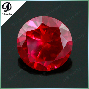 Top Quality Corundum Round Brilliant Cut Ruby Fake Gemstone