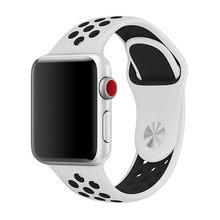 Ремешок для часов Apple Watch 4, 5, 44, 40, 42, 38 мм, силиконовый спортивный браслет для apple watch 4, 3(Китай)