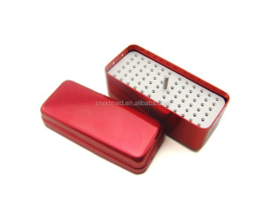 Dental Holder Bur Box,autoclave disinfection box,dental instrument box