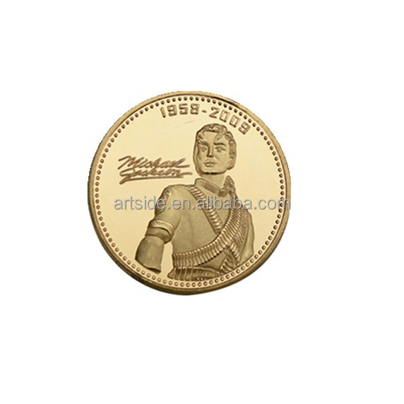Home Decoration Crafts Gold Plated The King of POP Music Star Michael  Jackson Commemorative Coins Art 5333e841f943