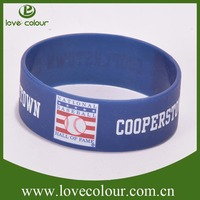Factory custom debossed silicone bracelet one direction