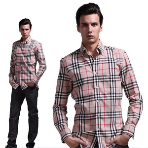 Mens Business Plaid Shirts Brand Garments