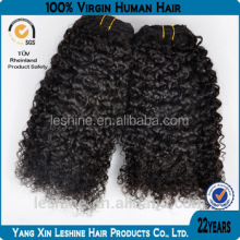 Perfect Machine Weft Unprocessed Full Cuticle Curl Brazilian Human Hair Wet And Wavy Weave