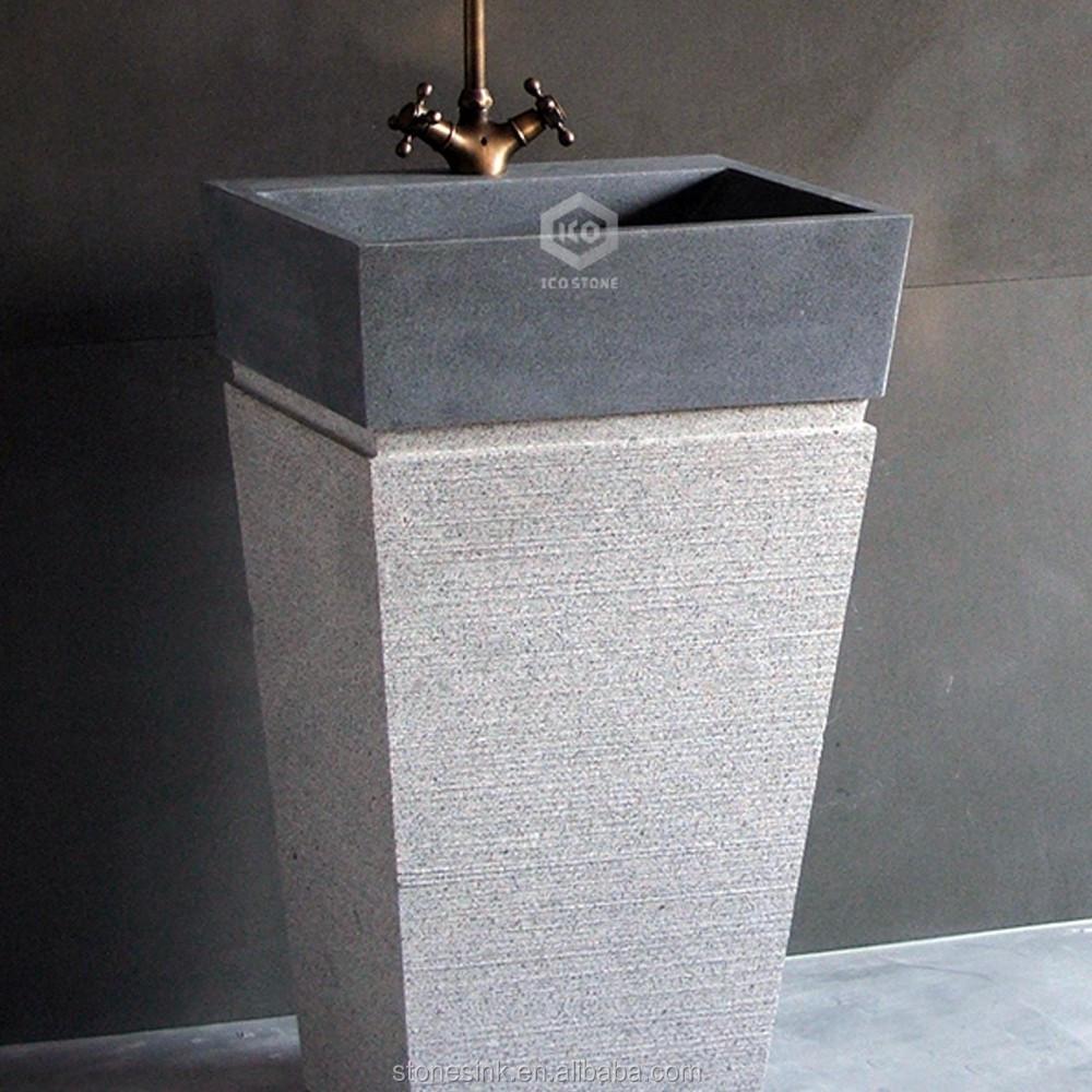 2016 roca de granito pedestal lavabo para ba o lavabos for Lavabo pedestal roca