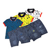 2017 polo collar with button anchor jeans pant boy printed t shirt wholesale