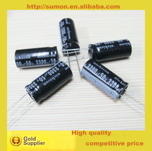 High quality 50v 3300uF aluminium electrolytic capacitor