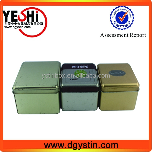 Factory wholesale customize printed green tea tin box, tea packing square tin box