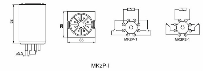 LY3,LY4,MK2P-I General purpose relays with LED