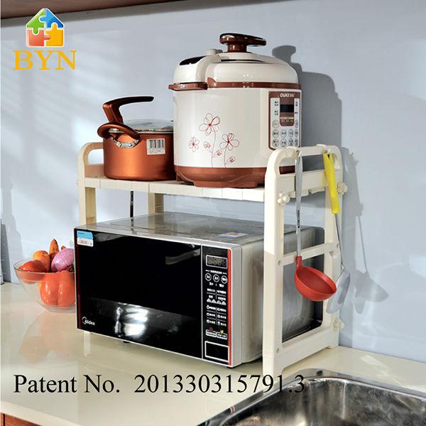 Venta al por mayor baldas para microondas compre online for Colgar utensilios de cocina