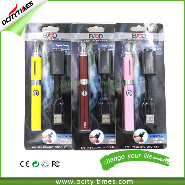 Ocitytimes Colorful Evod MT3 E Cigarette Starter Kits Pen Style E Cigs With USB Charger