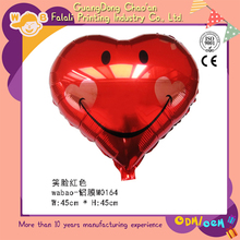 Factory price red color smile heart metallic balloon stand for sale