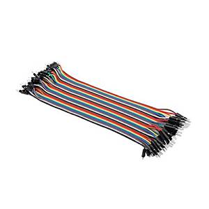 30cm Multicolored 40-pin Male to Female or Male to Male or Female to Female Breadboard Jumper Wires Ribbon Cables - pack of 3