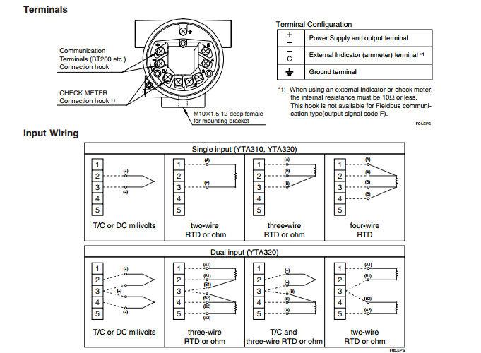Yokogawa Yta320 Temperature Transmitter 4-20ma/pt100/ff ...