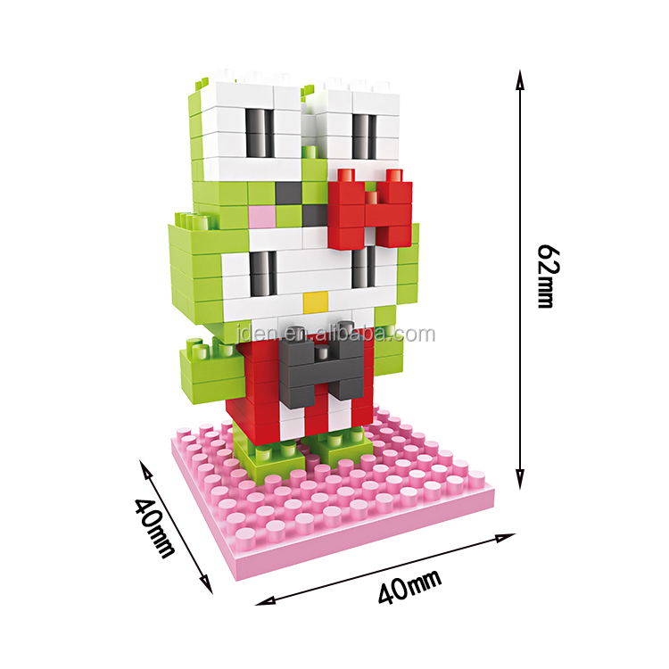 HSANHE Custom Baby Play Small Plastic Toy Figures building blocks