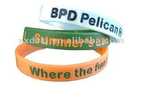 Inexpensive Custom Silicone Rubber Bracelets/Wristbands for Raising Money
