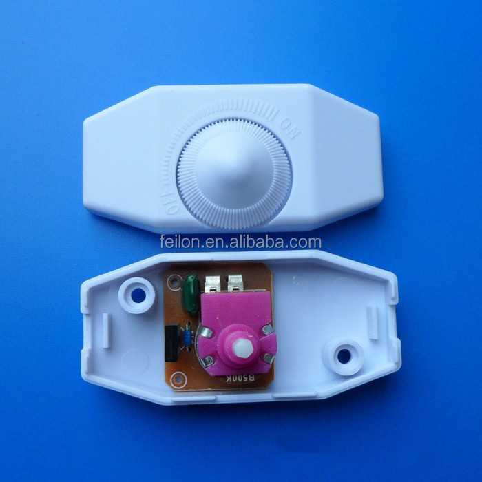 black/white/transparent rotary light switch 250v -110V cord inline switch
