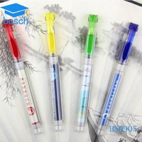 OEM promotion pen with roll out paper gel ink pen pull out banner pen