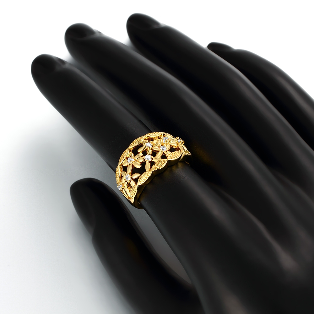Made In China Jewelry Flower And Leaves Design Fashion Gold Ring ...