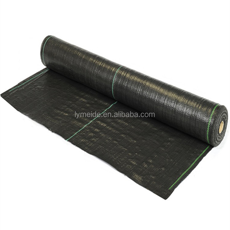 Chinese Wholesale Plastic Virgin PP Woven Fabric Roll Weed Mat in Soiless Garden