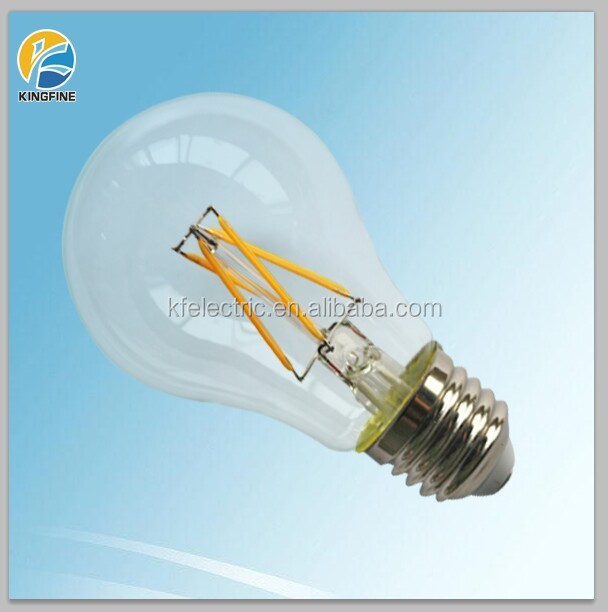 2015 newest design 360degree E27 6W instead 60W A19 LED Filament lamp