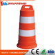 China Manufacturer Portable PE+Rubber Base 900mm Orange safety traffic barrel