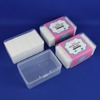 Best price Cosmetic facial makeup cotton pad tissue in clear box