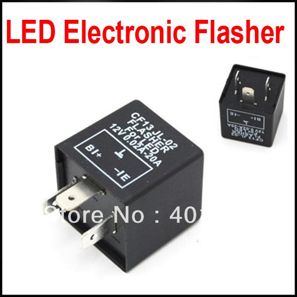 20pcs 3 Pin Electronic Flasher Relay Module Cf13 Fix Led
