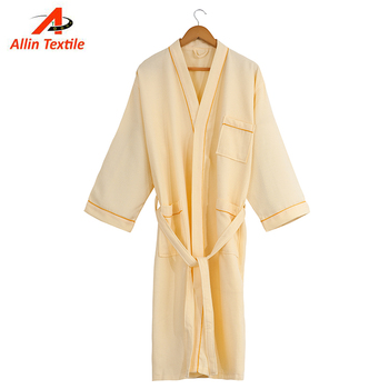 Yellow Cotton Waffle Fabric Towel Bathrobe For Men - Buy Towel ... a19d866c3