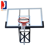 new acrylic glass material and acrylic basketball backboard for wall mounted basketball hoop with adjustable handle