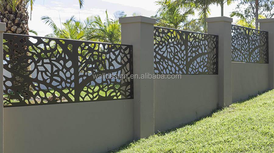 usa cnc coupe moderne en m tal cl ture utilis pour villa jardin d coration murale cl tures. Black Bedroom Furniture Sets. Home Design Ideas